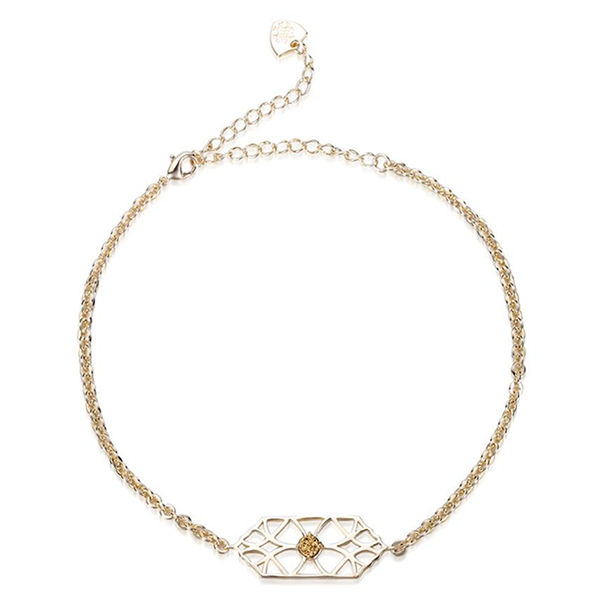 RUNAWAY ROMANTIC CHOCKER- GOLD DRUSY