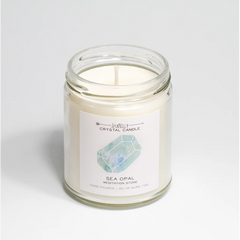 SEA OPAL CRYSTAL CANDLE