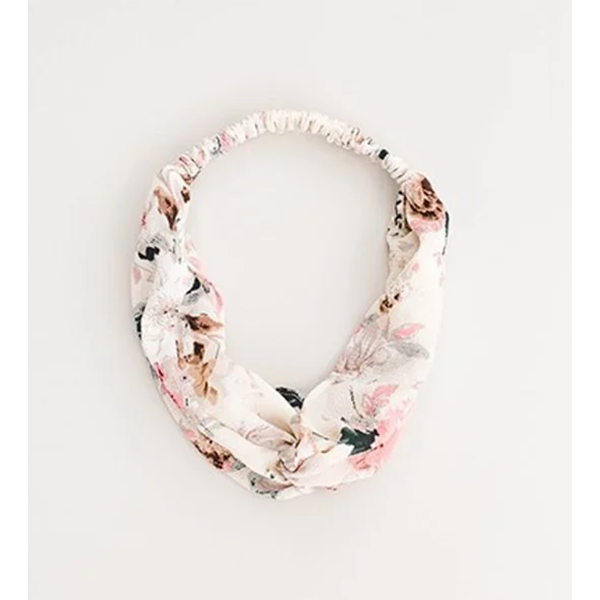 NEUTRAL FLORAL HEADBAND
