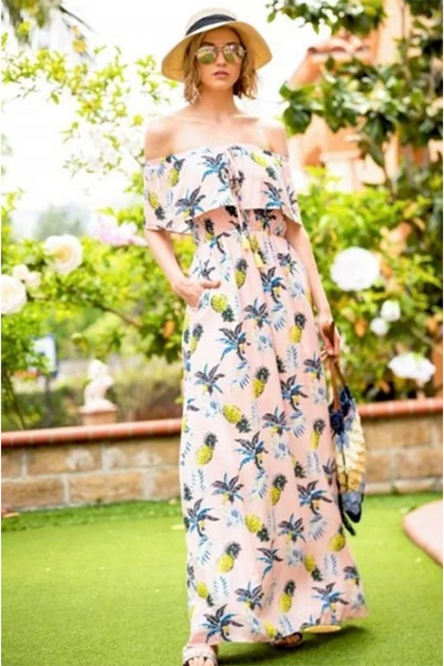 PINK TROPICAL PINEAPPLE MAXI