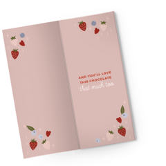 LOVE YOU BERRY MUCH CHOCOLATE CARD