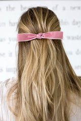 LOUISA VELVET BOW BARRETTE