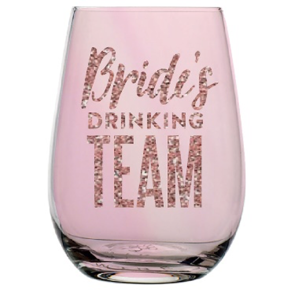 BRIDES DRINKING TEAM GLASS