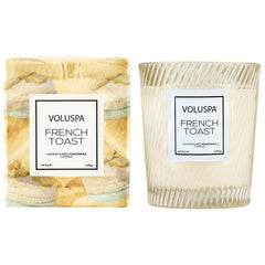 FRENCH TOAST CANDLE- TEXTURED GLASS
