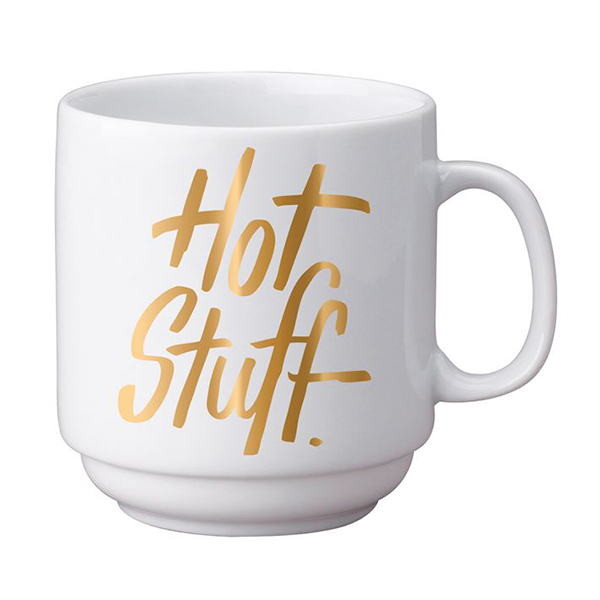 HOT STUFF GOLD MUG