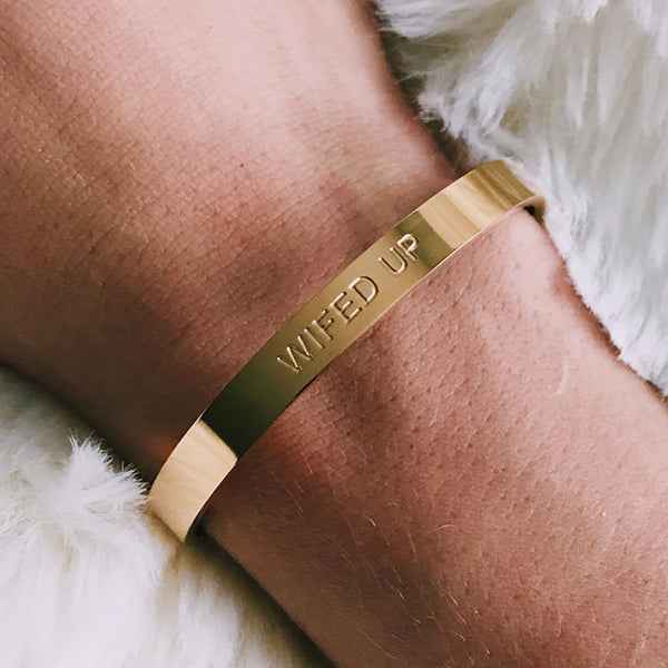 WIFED UP CUFF- GOLD