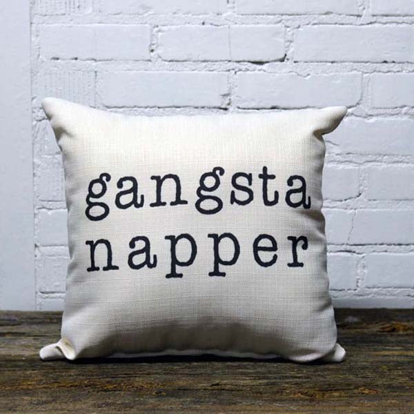 GANGSTA NAPPER PILLOW