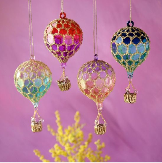 HONEYCOMB HOT AIR BALLOON ORNAMENT
