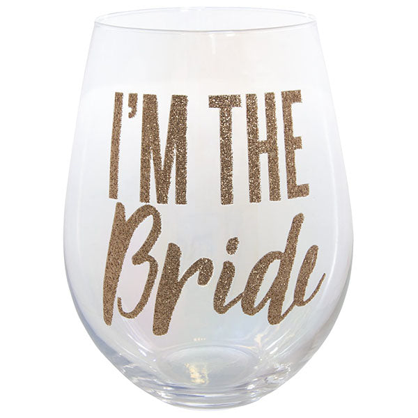 IM THE BRIDE GLASS