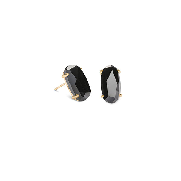 KENDRA SCOTT- BETTY EARRINGS IN BLACK GLASS