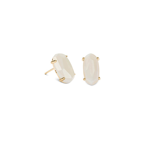 KENDRA SCOTT- BETTY EARRINGS IN WHITE MOP