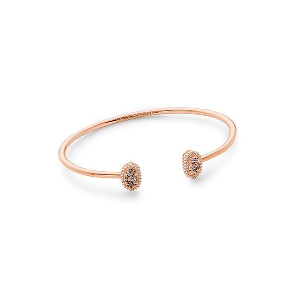 KENDRA SCOTT- CALLA BRACELET IN ROSE GOLD IRIDESCENT DRUSY