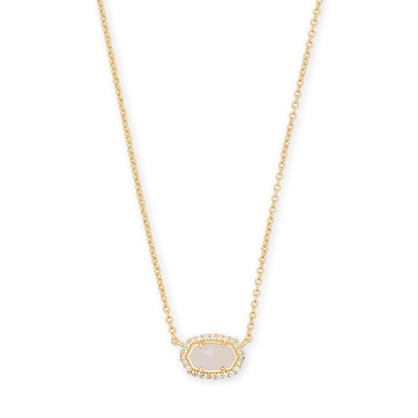 KENDRA SCOTT- CHELSEA NECKLACE IN ROSE QUARTZ