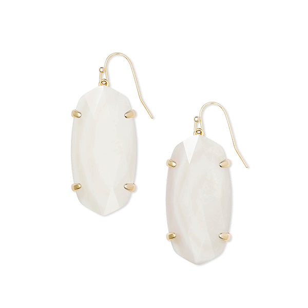 KENDRA SCOTT- ESME EARRINGS IN IVORY MOP