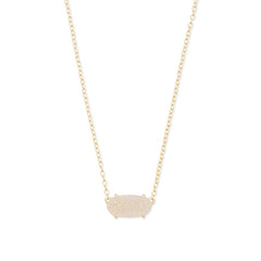 KENDRA SCOTT- EVER NECKLACE IN IRIDESCENT DRUSY