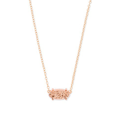 KENDRA SCOTT- EVER NECKLACE IN ROSE GOLD IRIDESCENT DRUSY
