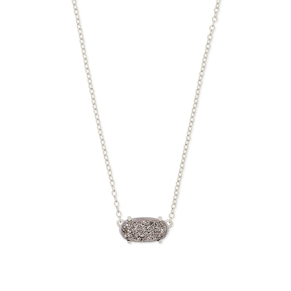 KENDRA SCOTT- EVER NECKLACE IN PLATINUM DRUSY