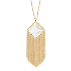 KENDRA SCOTT- KINGSTON NECKLACE IN WHITE MOP