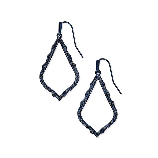 KENDRA SCOTT- SOPHIA EARRINGS IN NAVY GUNMETAL
