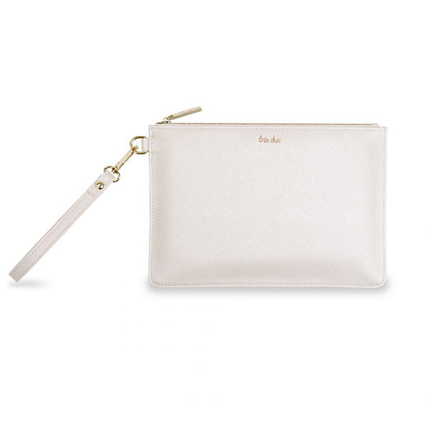 SECRET MESSAGE POUCH- WHITE