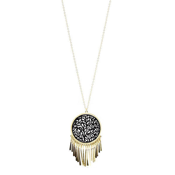 DREAMCATCHER NECKLACE- BLACK