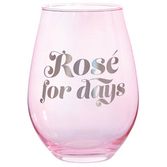 ROSE FOR DAYS WINE GLASS