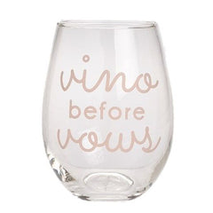 VINO VOWS WINE GLASS
