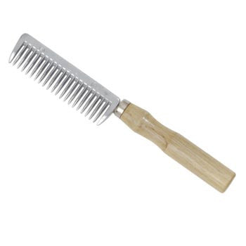 Mane Comb with Wooden Handle