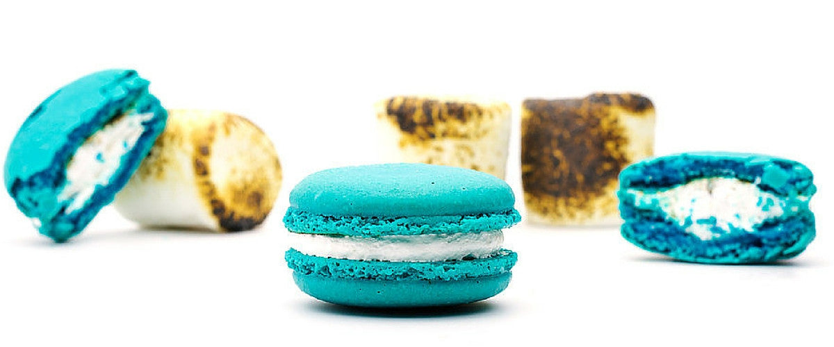 Toasted Marsmallow macarons