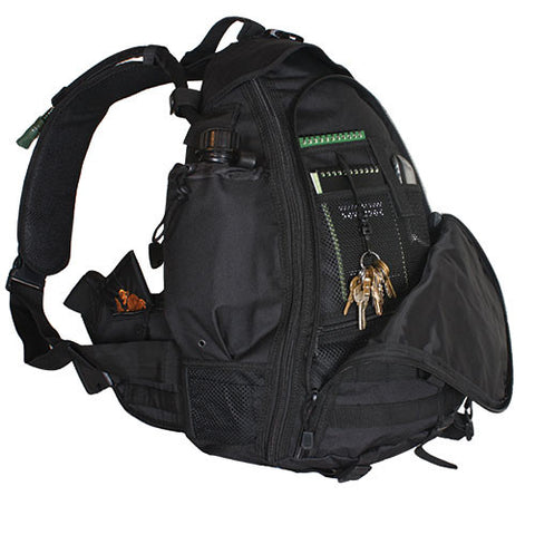 Ambidextrous Teardrop Tactical Sling Pack Black
