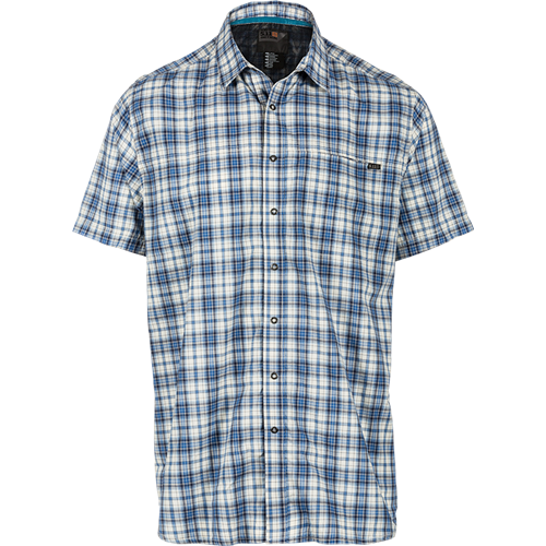5.11 Tactical Hunter Plaid S/S Shirt - Baltic Blue