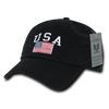 USA Flag Relaxed Graphic Caps