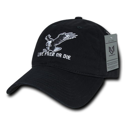 Live Free or Die Relaxed Graphic Caps