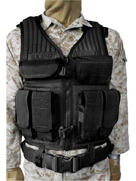 BLACKHAWK! Omega Elite Tactical Vest - Black