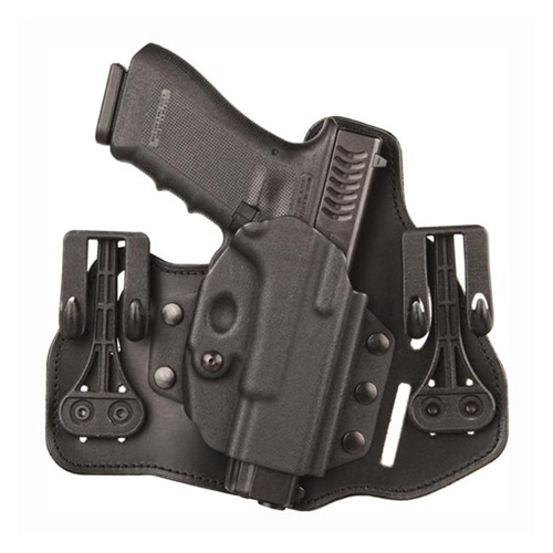 BLACKHAWK! Leather Tuckable Inside Pant Holster w/Shirt Shield and Slots - 9
