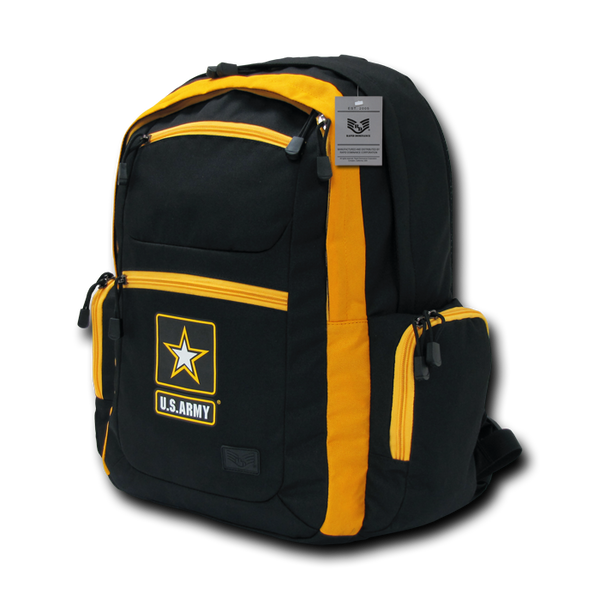 US Army Two Tone Backpack, Black / Gold
