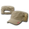 Military Clothing Adjustable Patrol Caps w/ Zipper Khaki