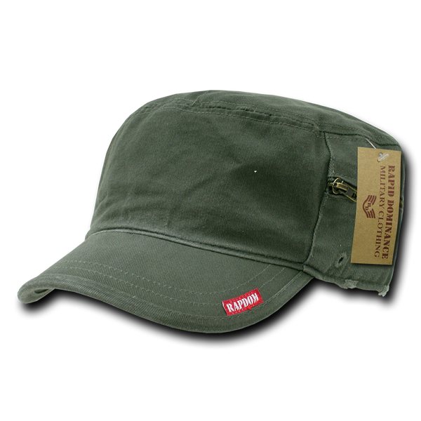 Military Clothing Adjustable Patrol Caps w/ Zipper Olive Drab