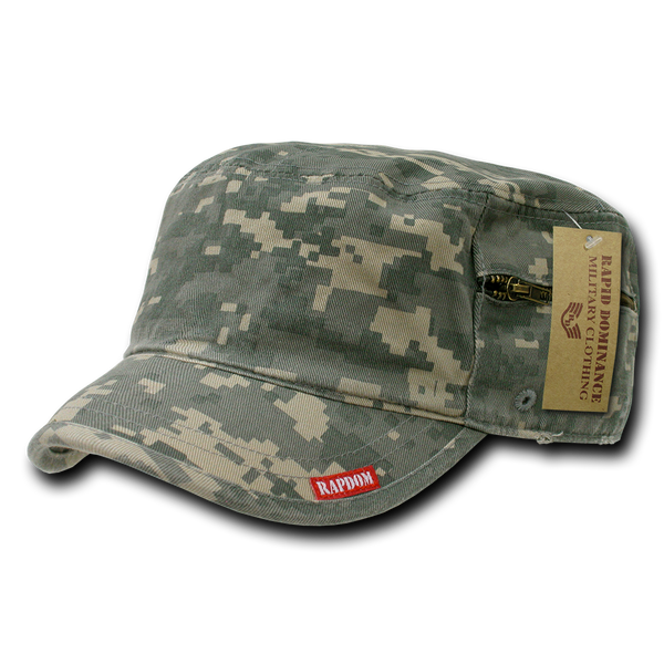 Military Clothing Adjustable Patrol Cap w/ Zipper Universal Digital
