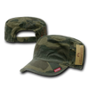 Military Clothing Adjustable Patrol Caps w/ Zipper Woodland