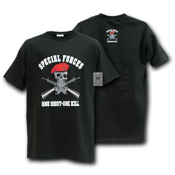 Special Forces One Shot-One Kill Military T-Shirts