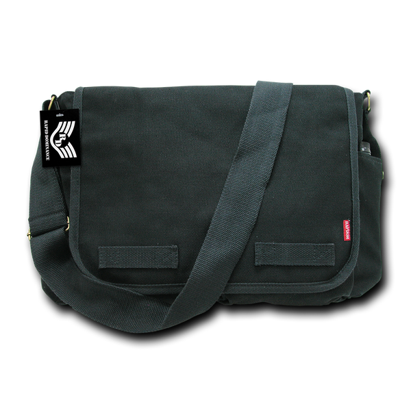Classic Military Messenger Bags Black