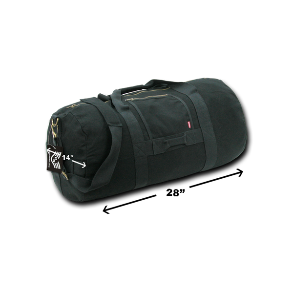 Side Zip Duffle Bags Black M