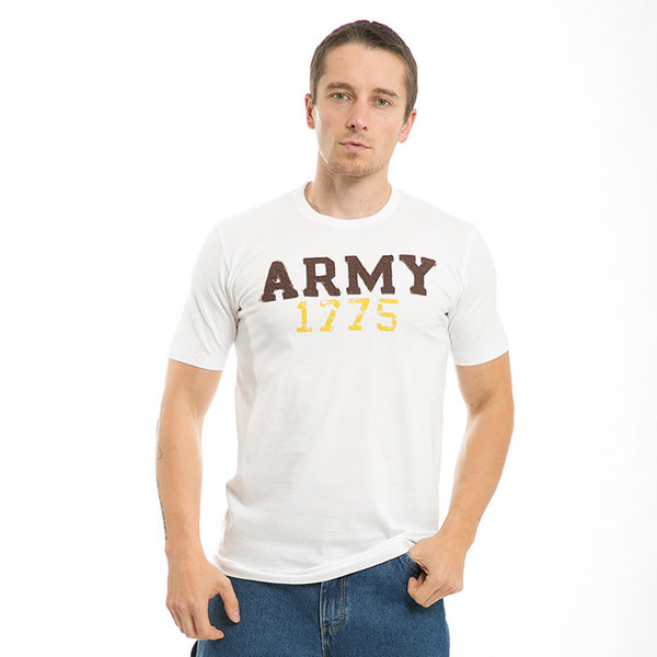 Army 1775 Applique Military White T-Shirts