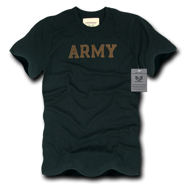 Army Felt Applique Military Law T-Shirt
