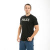 Police Felt Applique Military Law T-Shirt