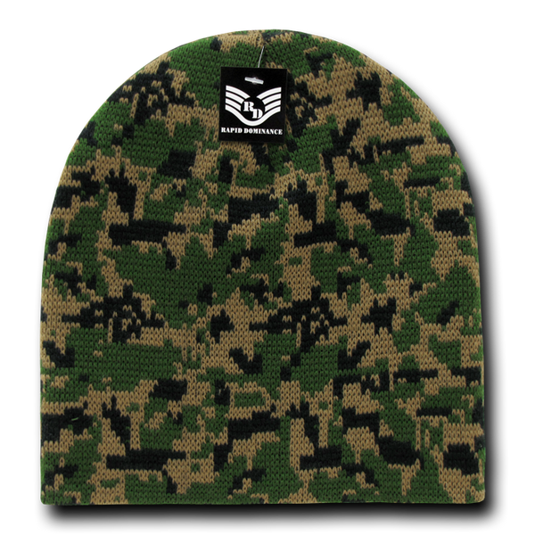 Camo Beanies, Woodland Digital