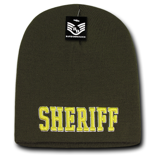 Sheriff Public Safety Knit Caps Olive