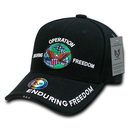 Operation Enduring Freedom DeLuxe Milit. Caps