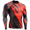 Red Blitz football Long Sleeve Compression Gym Shirt